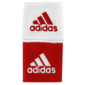 "adidas Interval 3"" Reversible Wristbands - Men's - Red/White"