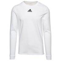 adidas Team Amplifier Long Sleeve T-Shirt - Men's - White