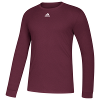 adidas Team Amplifier Long Sleeve T-Shirt - Men's - Maroon