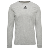 adidas Team Amplifier Long Sleeve T-Shirt - Men's - Grey