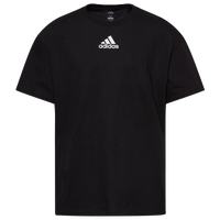 adidas Team Amplifier Short Sleeve T-Shirt - Boys' Grade School - All Black / Black