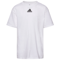 adidas Team Amplifier Short Sleeve T-Shirt - Boys' Grade School - All White / White