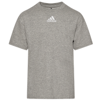 adidas Team Amplifier Short Sleeve T-Shirt - Boys' Grade School - Grey