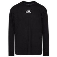 adidas Team Amplifier Long Sleeve T-Shirt - Boys' Grade School - All Black / Black