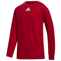 adidas Team Amplifier Long Sleeve T-Shirt - Boys' Grade School - Red