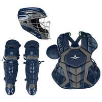 All Star System 7 Axis Catcher's Kit - Adult - Navy / Grey