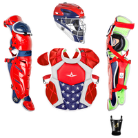 All Star System 7 Intermediate Catchers Kit - Grade School - Red / Navy