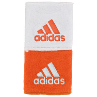 "adidas Interval 3"" Reversible Wristbands - Men's - Orange / White"