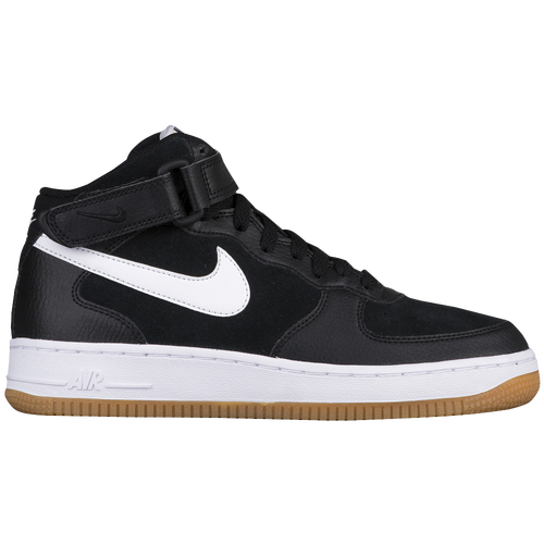 save off a70e1 af08c Nike Air Force 1 Mid - Boys  Grade School - Basketball - Shoes -  Black White Gum Med Brown