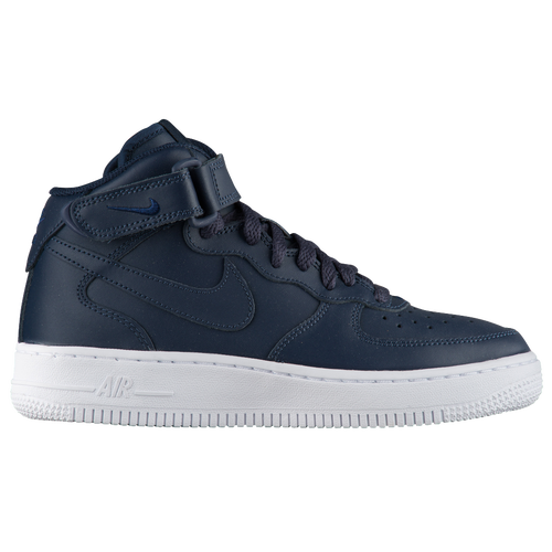 Nike Air Force 1 Mid - Boys' Grade School - Navy / Navy