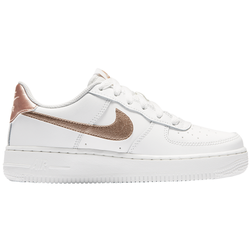 c9dd54388f197d Girls Rose Gold Nike Air Force Ones