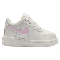 Nike Air Force 1 Low - Girls' Toddler - Off-White / Pink