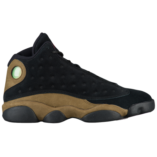 Jordan Retro 13 - Men's - Black / Olive Green