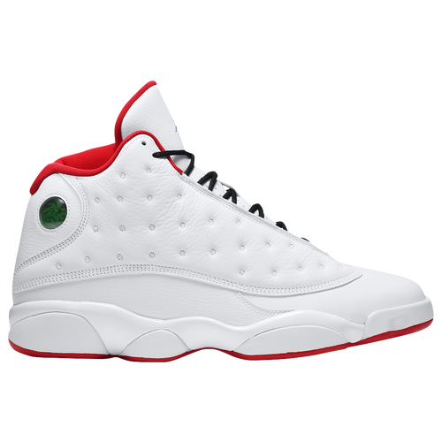 Jordan Retro 13 - Men's - Basketball - Shoes - White/Metallic  Silver/University Red/Black