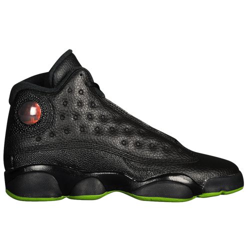 Jordan Retro 13 - Boys' Grade School - Black / Green
