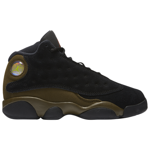 Jordan Retro 13 - Boys' Preschool - Basketball - Shoes - Black/True  Red/Light Olive