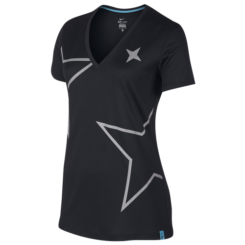 Nike N7 Legend Top - Women's Casual - Black/Dark Turquoise