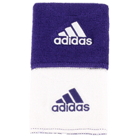 "adidas Interval 3"" Reversible Wristbands - Men's - Purple / White"