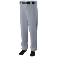 Augusta Sportswear Team Sweep Piped Baseball Pant - Men's - Grey / Black
