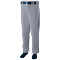 Augusta Sportswear Team Sweep Piped Baseball Pant - Men's - Grey / Navy