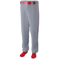 Augusta Sportswear Team Sweep Piped Baseball Pant - Men's - Grey / Red