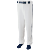 Augusta Sportswear Team Sweep Piped Baseball Pant - Men's - White / Navy