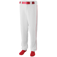 Augusta Sportswear Team Sweep Piped Baseball Pant - Men's - White / Red