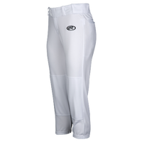 Rawlings Low Rise Fastpitch Pants - Women's - White / Black