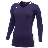 Nike Team Vapor Pro L/S Jersey - Women's - Purple / White