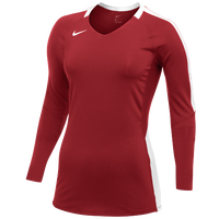 Nike Team Vapor Pro L/S Jersey - Women's - Red / White