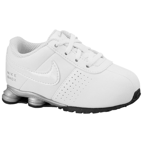 nike shox deliver kids running shoe white