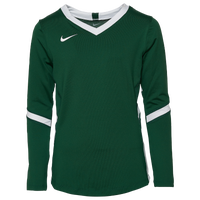 Nike Hyperace Long Sleeve Game Jersey - Girls' Grade School - Green