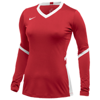 Nike Hyperace Long Sleeve Game Jersey - Girls' Grade School - Red