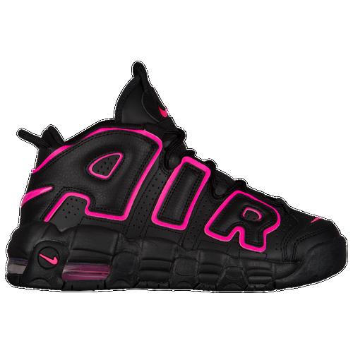 f66b342df4 Nike Air More Uptempo - Boys' Grade School - Basketball - Shoes -  Black/Pink Blast
