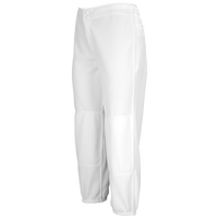 Mizuno Select Non-Belted Fastpitch Pants - Women's - All White / White