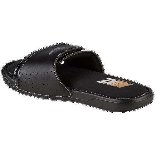 More Nike Comfort Slide Women's Shoes Black/White Width B Medium