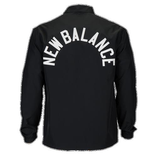 New Balance Classic Coaches Jacket - Men's - Casual - Clothing - Black