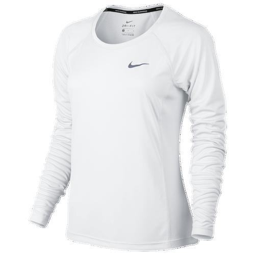 Nike Dri-FIT Miler Long Sleeve T-Shirt - Women's - Running ...