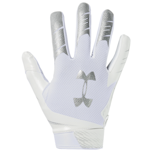 Under Armour F7 Receiver Gloves - Men's - White/Metallic Silver