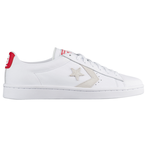 Converse Pro Leather 76 Ox - Men's - Basketball - Shoes -  White/White/Varsity Red