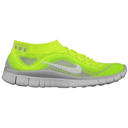 Nike Free Flyknit + - Men's - Running - Shoes - Volt/White/Electric  Green/Wolf Grey