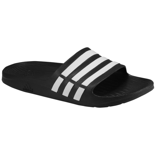adidas Duramo Slide - Men's Casual - Black/White 15890