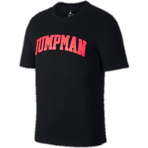 772010e90098 Jordan JSW Jumpman Wordmark T-Shirt - Men s - Basketball - Clothing -  Black Infrared 23