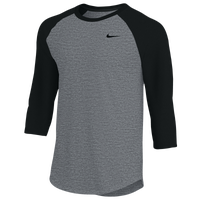 Nike Team 3/4 Raglan T-Shirt - Men's - Grey / Black