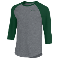 Nike Team 3/4 Raglan T-Shirt - Men's - Grey / Green