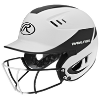 Rawlings Velo Senior Helmet w/ Facemask - Women's - White / Black