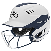 Rawlings Velo Senior Helmet w/ Facemask - Women's - White / Navy