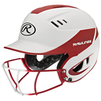 Rawlings Velo Senior Helmet w/ Facemask - Women's - White / Red