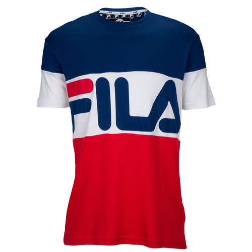 fila clothing. fila vialli t-shirt - men\u0027s casual clothing blue depths/white/scarlet