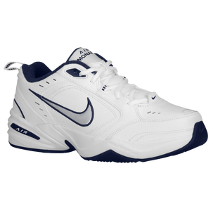Nike Air Monarch IV - Men's - White/Midnight Navy/Metallic Silver